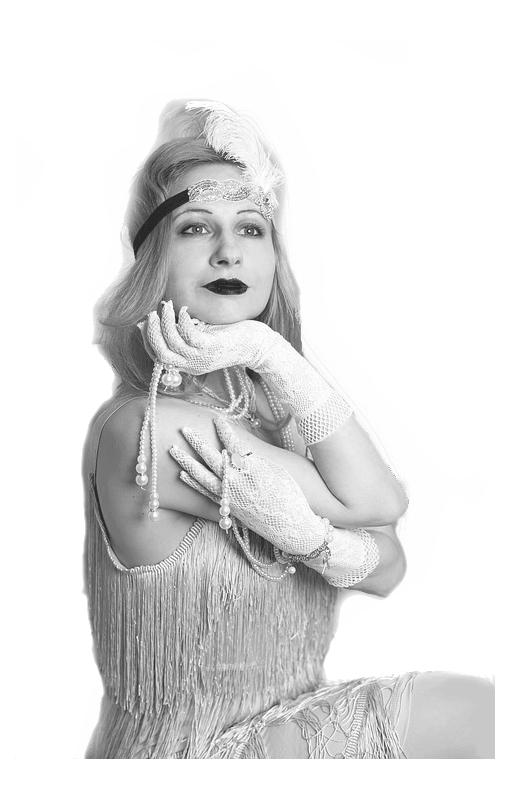 flapper makeup and dress